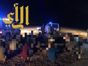 حملة أمنية بمدينة سكاكا ومحافظة طبرجل مساء أمس