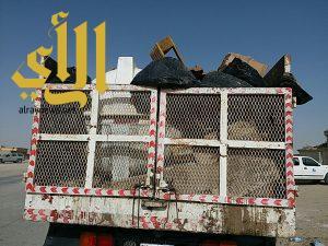 بلدية الخفجي ترفع 1000 م3 من النفايات الصلبة ضمن برنامجها الاسبوعي للنظافة