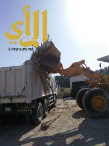 بلدية قرية العليا ترفع أكثر من 500 طن مخلفات وأنقاض مجهولة المصدر خلال أسبوع