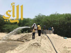 مدير عام العيسى الخيرية يزور جمعية خميس حرب ويطلع على مشروع شبكات المياه