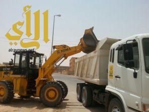 بلدية الذيبية: 36 جولة ورفع أكثر من 710 طن مخلفات بناء ونفايات صلبة في أسبوع