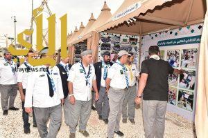 نائب رئيس جمعية الكشافة يزور مخيم كشافة وزارة التعليم بالجنادرية