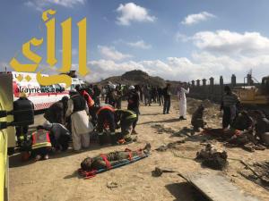 انهيار بوابة خرسانية تخلف 6 إصابات متفاوتة بمنطقة الباحة