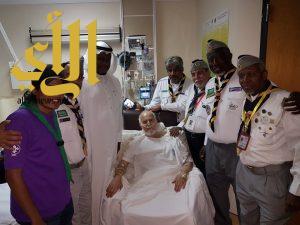 رواد كشافة مكة يطمئنون على صحة معالي الدكتور عبدالله نصيف