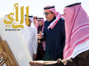 أمير الباحة يدشن مشروع جسر التقاطع رقم (٣) بالطريق الدائري
