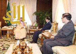 الأمير منصور بن مقرن يلتقي السفير الصيني
