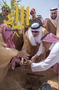 """الأمير فيصل بن مشعل يدشن حملة التشجير تحت عنوان """"أرض القصيم خضراء"""""""