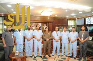 مدير شرطة منطقة الجوف يدشن زي الممارسين الصحيين