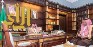 أمير الباحة يستقبل عضو مجلس ادارة الاتحاد العربي السعودي لكرة القدم