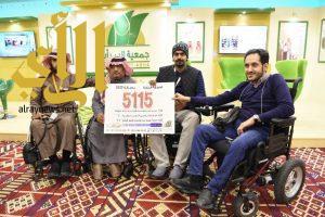 """وفد جمعية الإعاقة الحركية للكبار بالرياض في زيارة """" بر أبها """" بالجنادرية"""