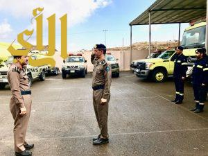 العميد الدليوي يتفقد ادارة الدفاع المدني بمدينة الباحة