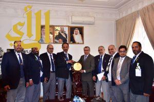 سفير المملكة في اذربيجان يستقبل رواد الحركة الكشفية السعودية