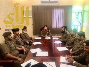 مدير الدفاع المدني بمنطقة الباحة يعقد اجتماعا بمدراء الادارات المعينين حديثا
