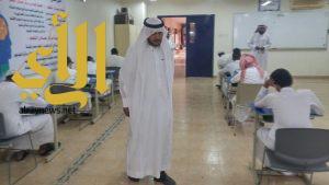 مسؤولو تعليم ألمع يتفقدون سير الاختبارات في مدارس المحافظة