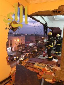 وفاة طفل واصابة 9 اشخاص نتيجة انفجار غاز بشقة سكنية في خميس مشيط