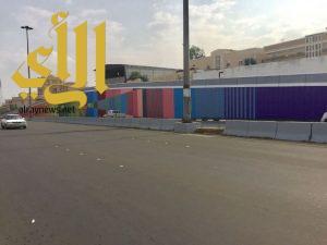 لوحتان جداريتان بطول 580متراً تزين جبين مدينة الباحة