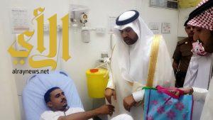 """"""" محافظ قلوة """"يستقبل المهنئين بالعيد ويُعايد المنومين بالمستشفى"""