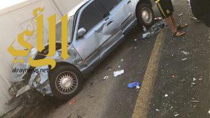 إصابة ستة أشخاص في حادث تصادم شرق كبري بريمان بجدة