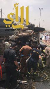 حادث مروع في زاوية بني كبير بالباحة