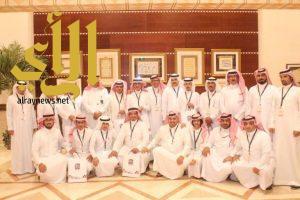 إدارة سوق عكاظ يستقبلون اعلامي الباحة بحفاوة وتكريم