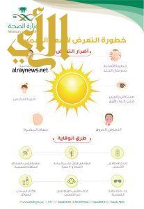الصحة تحذر من التعرض لأشعة الشمس عبر انفو جرافيك توعوي