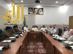 الفايز يعقد اجتماعا مع لجنة النطاق الاشرافي للمحافظة
