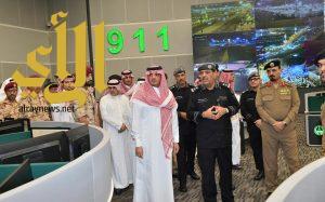 سمو وزير الداخلية يتفقد مركز العمليات الأمنية الموحد بمنطقة مكة المكرمة