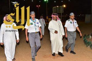 المشرف العام على معسكرات الخدمة يتابع اعمال الكشافة في ابوعجرم