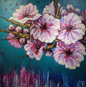 """40 عملا تشكيليا بمعرض """"لغة الزهور"""" الفني بجدة"""