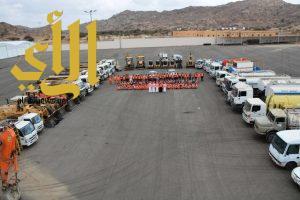 بلدية أحد رفيدة تستعد بفرقتين و30 آلية و150 عاملا لتصريف الأمطار