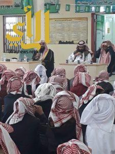 هيئة ظهران تحاضر طلاب مدارس تعليم ظهران وتوعيهم في بناء الوطن