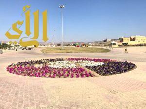 الورود تزين شوارع محافظة ظهران الجنوب
