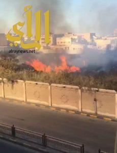 السيطرة على حريق في مقبرة الجبيل القديمة