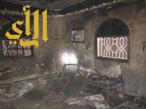 مدني نجران يخمد حريق بحي الفيصلية