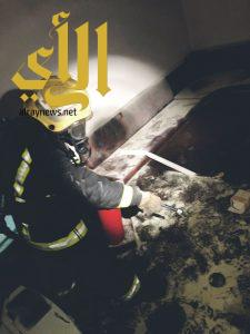 مدني خميس مشيط يخمد حريق بشقة سكنية