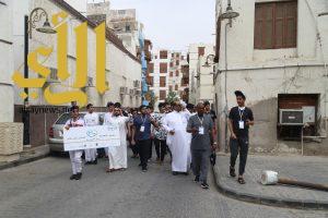 منتسبي نادي الحي بثانوية الأمير نايف بن عبدالعزيز يستمتعون ببرنامج عيش السعودية