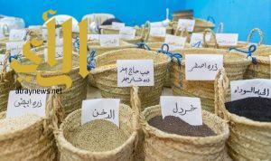 """""""البذور والحبوب الزراعية"""" تلفت زوار قرية الباحة التراثية"""