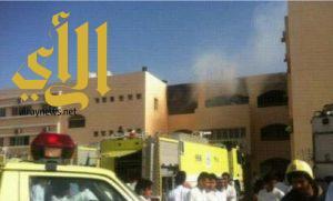 حريق بمتوسطة البنات بأبو عريش يتسبب بإصابة 5 طالبات