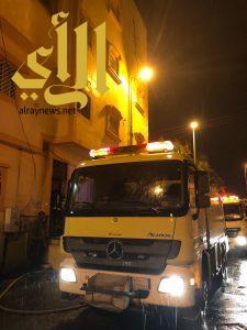 مدني خميس مشيط يسيطر على حريق شقة حي عتود