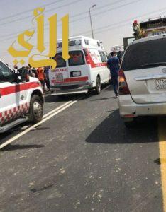 وفاة معلمتين وإصابة أخريتين أثر حادث تصادم في محافظة بيش