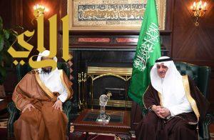 أمير تبوك يستقبل معالي النائب العام خلال زيارته للمنطقة