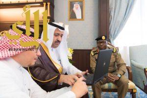 أمير الباحة يدشن نظام الرصد الآلي للإشارات الضوئية المرورية