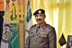 """اللواء """"العمري"""" يتلقى التهاني من مديري الدوائر الحكومية وأبناء منطقة عسير بعد ترقيته"""