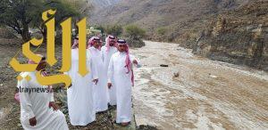 أمطار غزيرة وبردية محافظة القرى