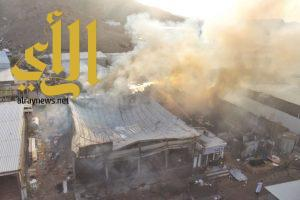 مدني العاصمة المقدسة يسيطر على حريق اندلع فى محلات تجارية بمنطقة الحراج