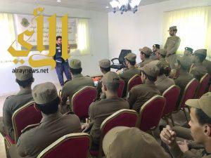 محاضرات توعوية لعدد ( ١٢٠ ) من منسوبي القوات الخاصة لأمن الطرق بهلال تبوك