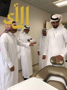 ال نهيان في زيارة لمستشفى وكلية طب الأسنان بجامعة الملك سعود