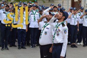 300 كشاف يحيون العلم الوطني في مشعر عرفات مع بداية عمل كل يوم