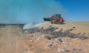 أمانة نجران توضح أسباب حريق مرمى النفايات في شرورة