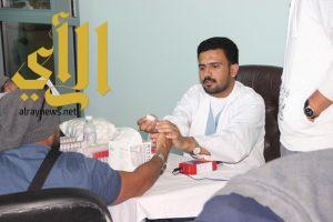 حملة للتبرع بالدم في كلية العلوم الطبية التطبيقية بجامعة الباحة